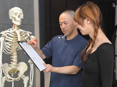 """初回だけで""""約80項目""""の検査を行い、ご自身の身体の状態をご理解して頂きます。"""